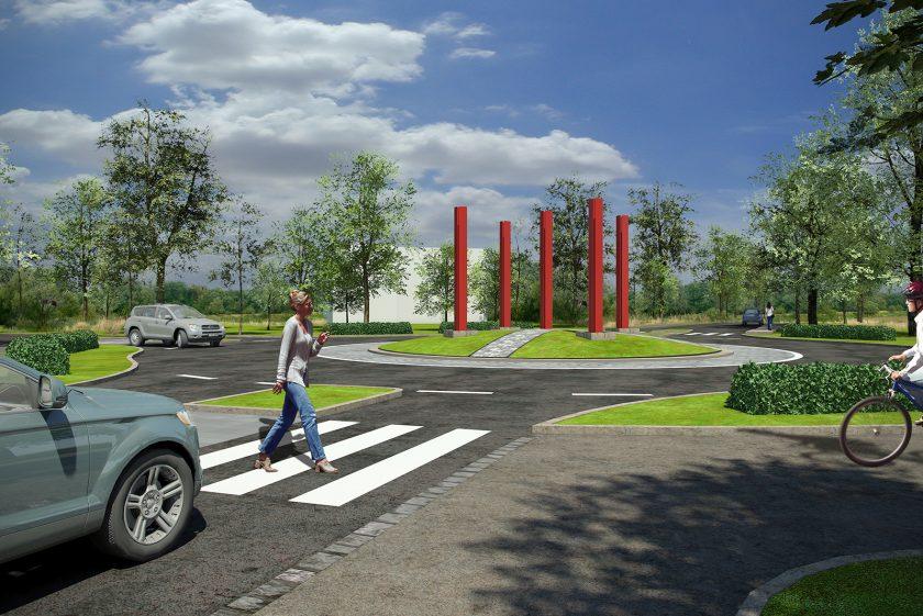 Gestaltung eines Kreisverkehrs