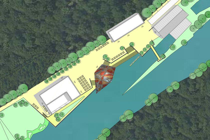Besucherzentrum im Brückenpark